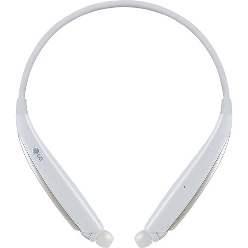 LG HBS-830 TONE Ultra Alpha Wireless In-Ear Headphones (White)