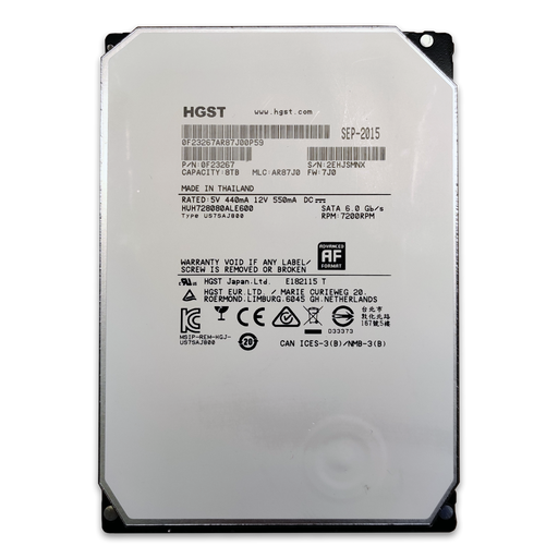 HGST He8 Ultrastar 8TB HUH728080ALE600 - BitDeals.tech - Storage