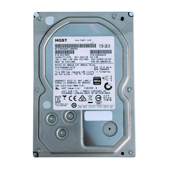 HGST 6TB Ultrastar 7K6000 HUS726060AL4210 - BitDeals.tech - Storage