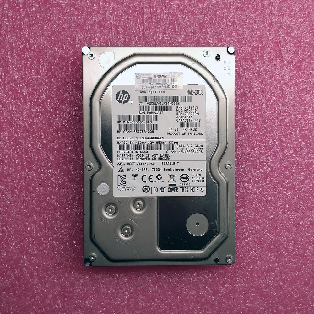 HP 4TB SATA (HGST 7K4000 Series) MB4000GCWLV - BitDeals.tech - Storage
