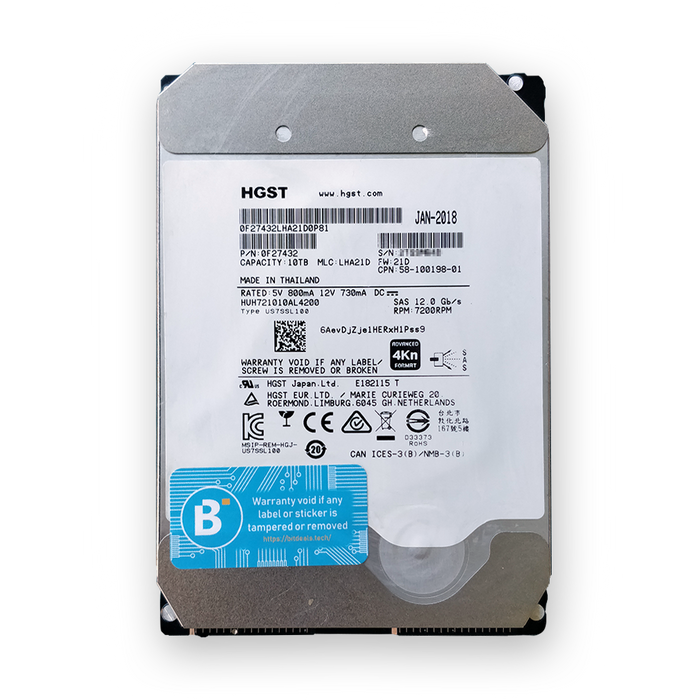 HGST 10TB He10 HUH721010AL4200 - BitDeals.tech - Storage