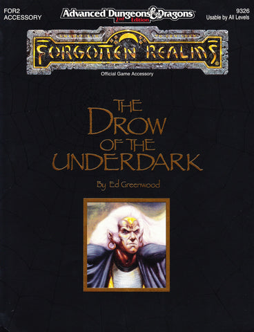 The Drow of the Underdark: When TSR uses FASA artists   Art