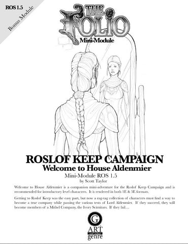 THE FOLIO #1.5 WELCOME TO HOUSE ALDENMIER [MINI-ADVENTURE]