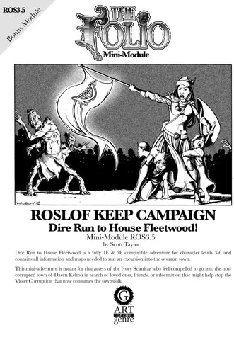 THE FOLIO #3.5 DIRE RUN TO HOUSE FLEETWOOD! [MINI-ADVENTURE]