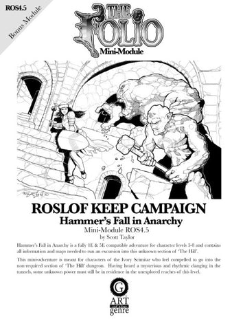 THE FOLIO #4.5 HAMMER'S FALL IN ANARCHY [MINI-ADVENTURE]