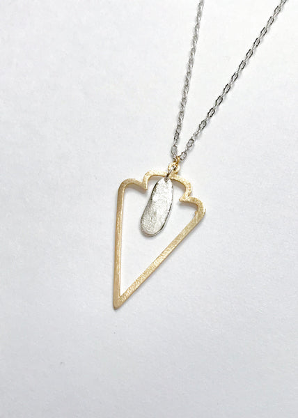 Gold & Silver Arrowhead Necklace