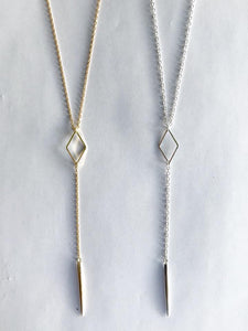 Lariat Diamond Spike Necklace