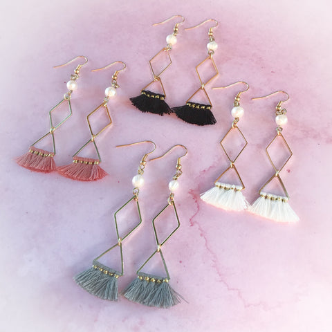 Pearl & Tassel Earrings