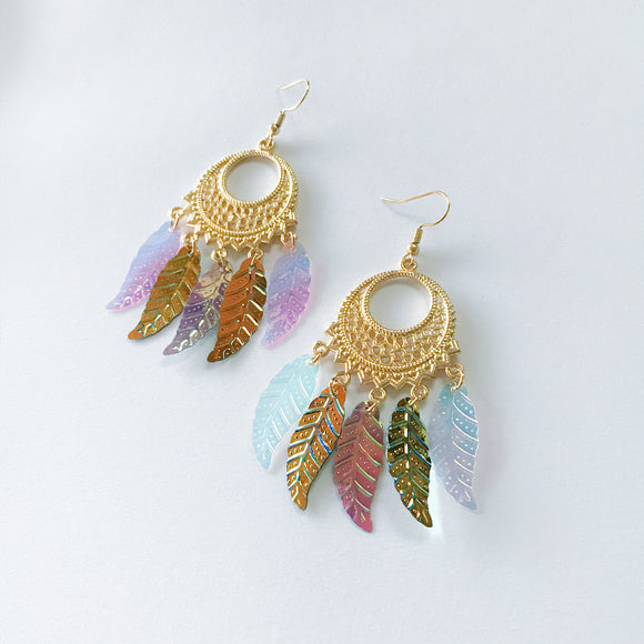 Iridescente Dreamcatcher Earrings