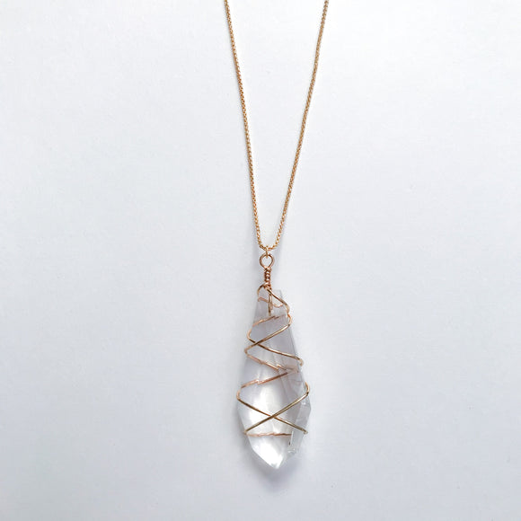 Crystal Chunk Necklace