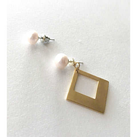 Pearl Stud Convertible Earrings