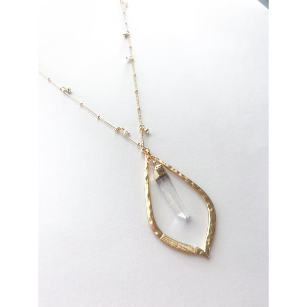 Pearl & Crystal Quartz Necklace