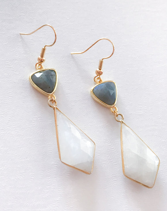 Labradorite & Moonstone Earrings