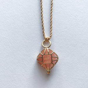 Iridescent Coral Necklace