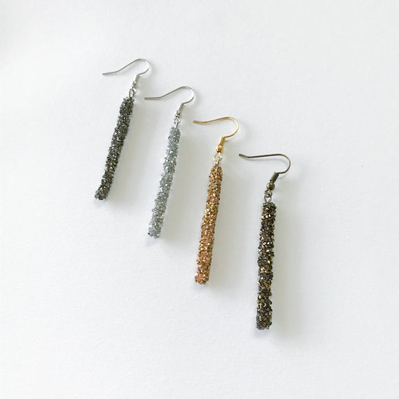 Crystal Rock Earrings