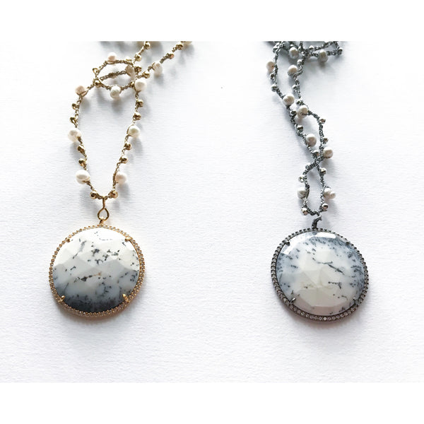 Marble & Pearl Necklace