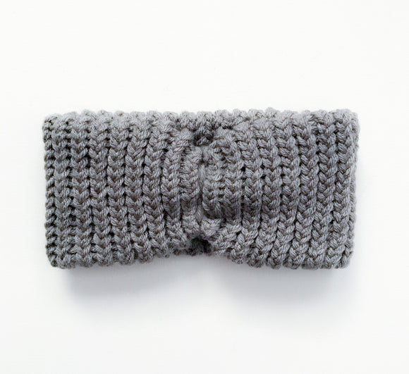 Turban Headband-Gray