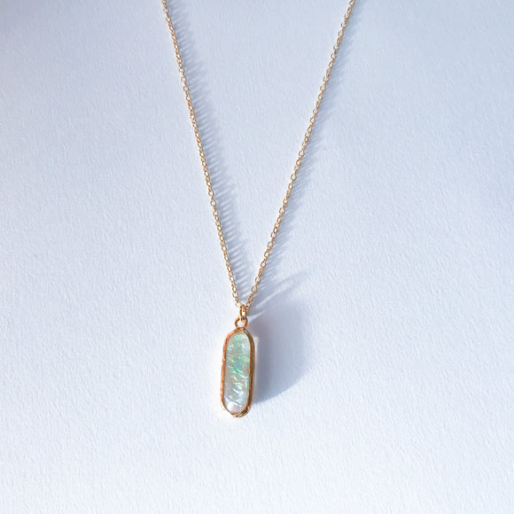 Iridescent  Bar Necklace