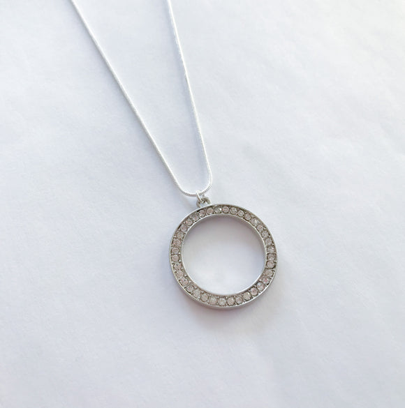 Rhinestone Ring Necklace