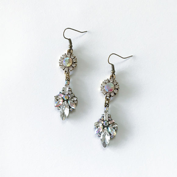 Iridescent Rhinestone Earrings