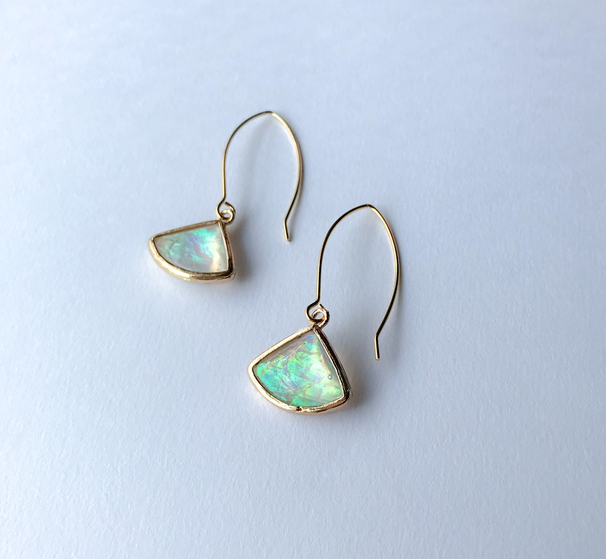 Opal Fan Earrings