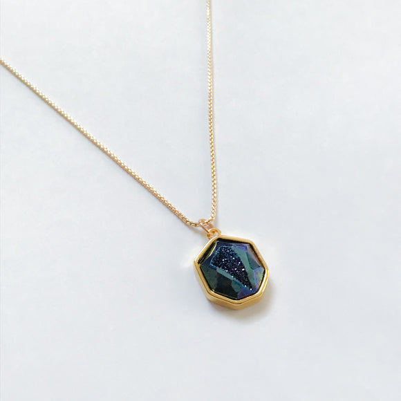 Druzy Faceted Necklace