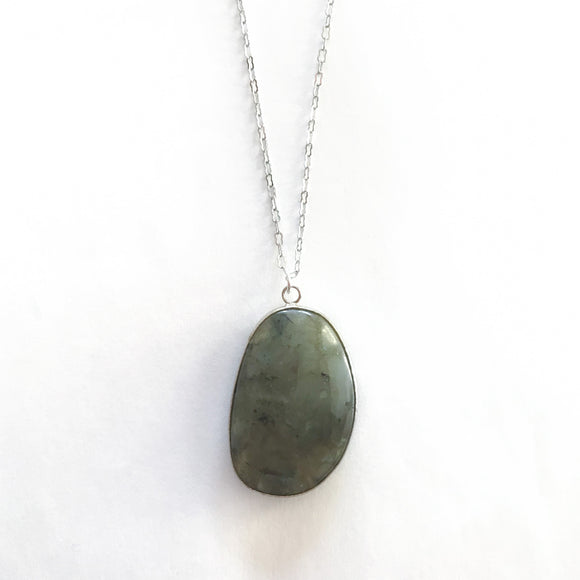 Labradorite Chunk Necklace