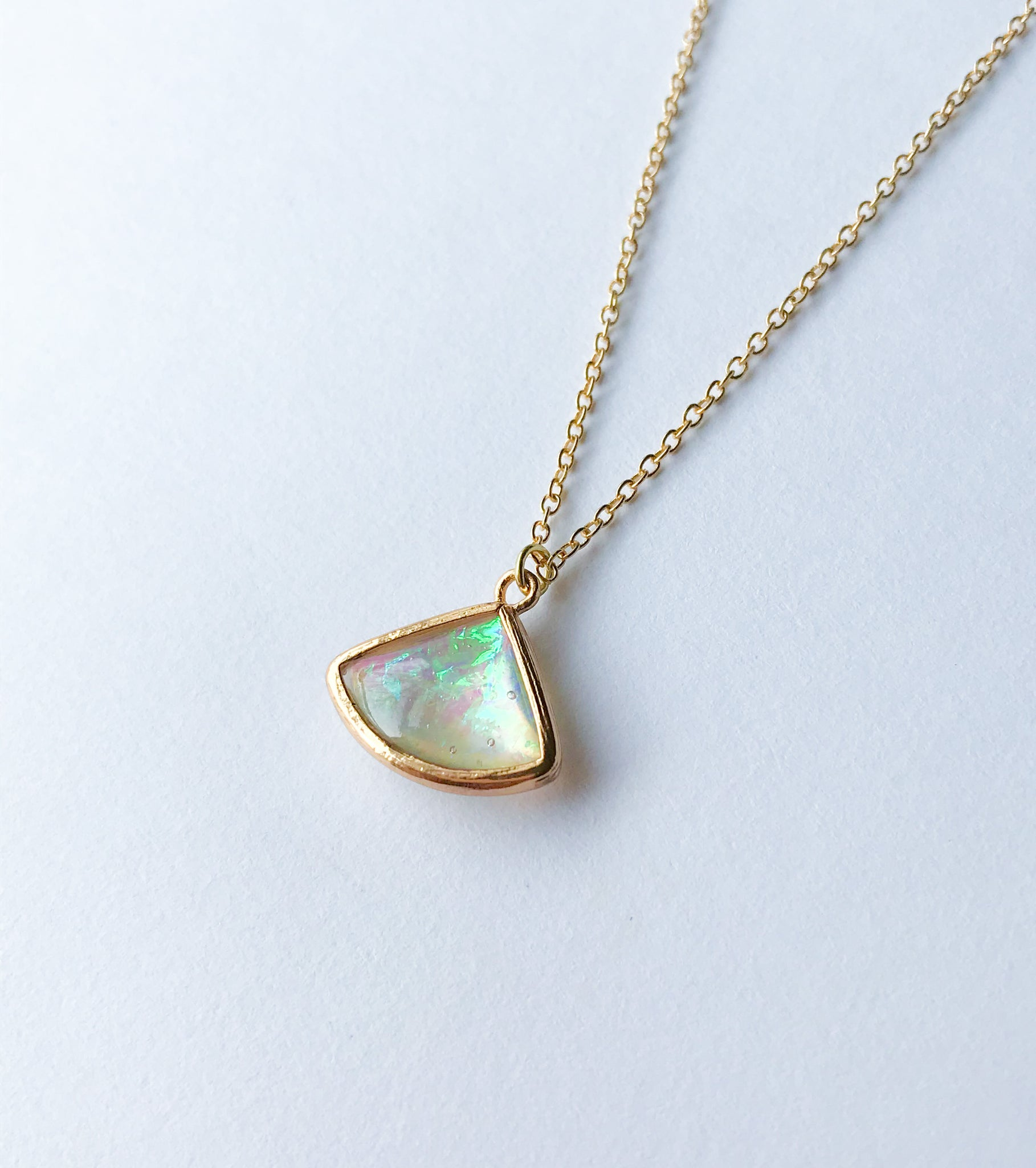 Opal Fan Necklace