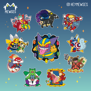 [Pokevengers] The Complete 10 Piece Enamel Pin Set (20% DISCOUNT)