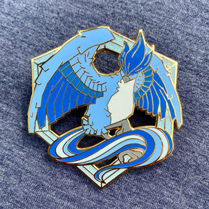 Pokemon Articuno Team Mystic Legendary Bird hard enamel pin