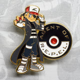 Pokemon Ash Ketchum as Avengers Agents of SHIELD Nick Fury gold enamel pin