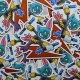 Pokemon Avengers Sneasel as Black Widow vinyl sticker