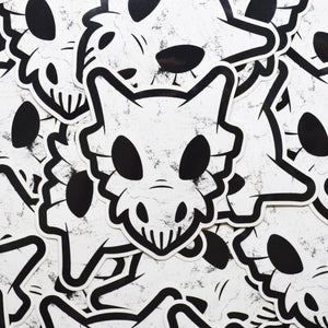 Pokemon Cubone Punisher Logo Vinyl Sticker