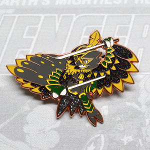 Pokemon Decidueye as Avengers Ronin rose gold enamel pin