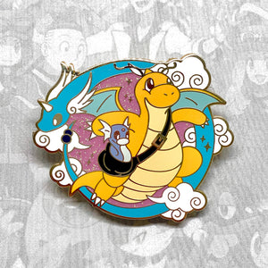 Pokemon Dratini Dragonair Dragonite evolution enamel pin