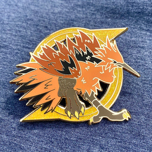 Pokemon legendary bird Galar Zapdos hard enamel pin