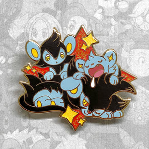Pokemon Shinx, Luxio, Luxray evolution enamel pin