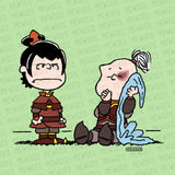 "Avatar - The Last Airbender 8x8 wall art print featuring Lucy Van Pelt and Linus from ""Peanuts"" as Azula and Zuko."