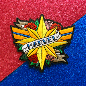 [Captain Marvel] 'MARVEL' Embroidered Patch