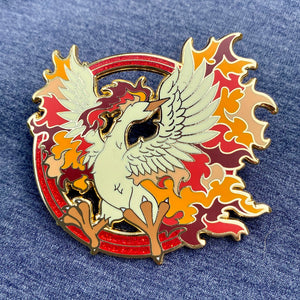 Pokemon Moltres Team Valor Legendary Bird hard enamel pin