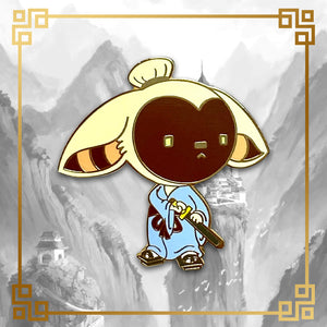Avatar - The Last Airbender Samurai Momo hard enamel pin, 1.4 inches tall, gold plating, Aang, Katara, Toph, Bumi, Azula, Sokka, Appa, Zuko, Uncle Iroh, White Lotus, Fire Nation, Water Tribe, Earth Kingdom, Ba Sing Se, earth bending, fire bending, air bending, water bending