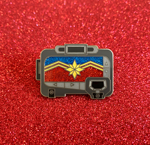 Captain Marvel Pager Enamel Pin
