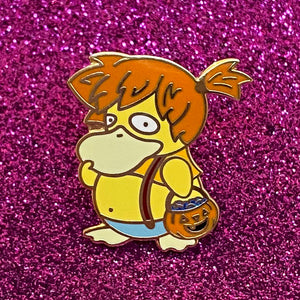 Halloween Pokemon Psyduck trick or treat as Misty hard enamel pin gold plated