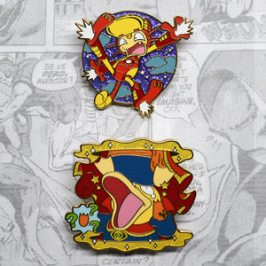 pokemon avengers pysduck doctor strange meowth iron man enamel pin