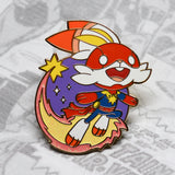 gold Captain Marvel (Scorbunny) enamel pin