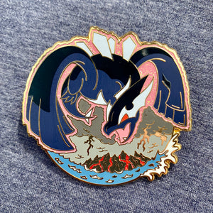 Pokemon Shadow Lugia Legendary Bird hard enamel pin