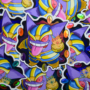 pokemon avengers thanos gengar vinyl sticker