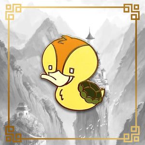 Avatar - The Last Airbender turtle duck hard enamel pin. 1 inch tall, gold plating. Aang, Katara, Sokka, Appa, Momo, Zuko, Azula, Toph, Bumi, Uncle Iroh, White Lotus, Fire Nation, Water Tribe, Earth Kingdom, Ba Sing Se, earth bending, fire bending, air bending, water bending
