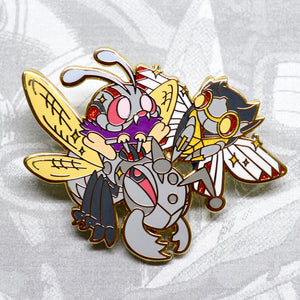 Pokemon Venonat hard enamel pin as Ant-Man, Ninjask as the Wasp, and Durant as Ant-thony in gold or rose gold plating. Ant-Man enamel pin, Venonat enamel pin, Ninjask enamel pin, Pokemon enamel pin, Ant-Man and The Wasp, Paul Rudd, Ant-Man in Quantumania, MCU Phase 4, Quantum Realm, Scott Lang, Hope Van Dyne, Hank Pym, Michael Douglas, Michelle Pfeiffer, Marvel Comics, Avengers Infinity War, Avengers Endgame, Evangeline Lily