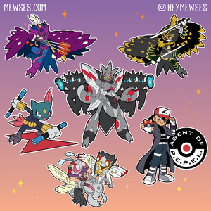 Pokemon Scizor, Venonant, Sneasel, Ash Ketchum, Decidueye as Avengers Nick Fury, Ant Man, Wasp, Ronin, Hawkeye, Black Widow enamel pins